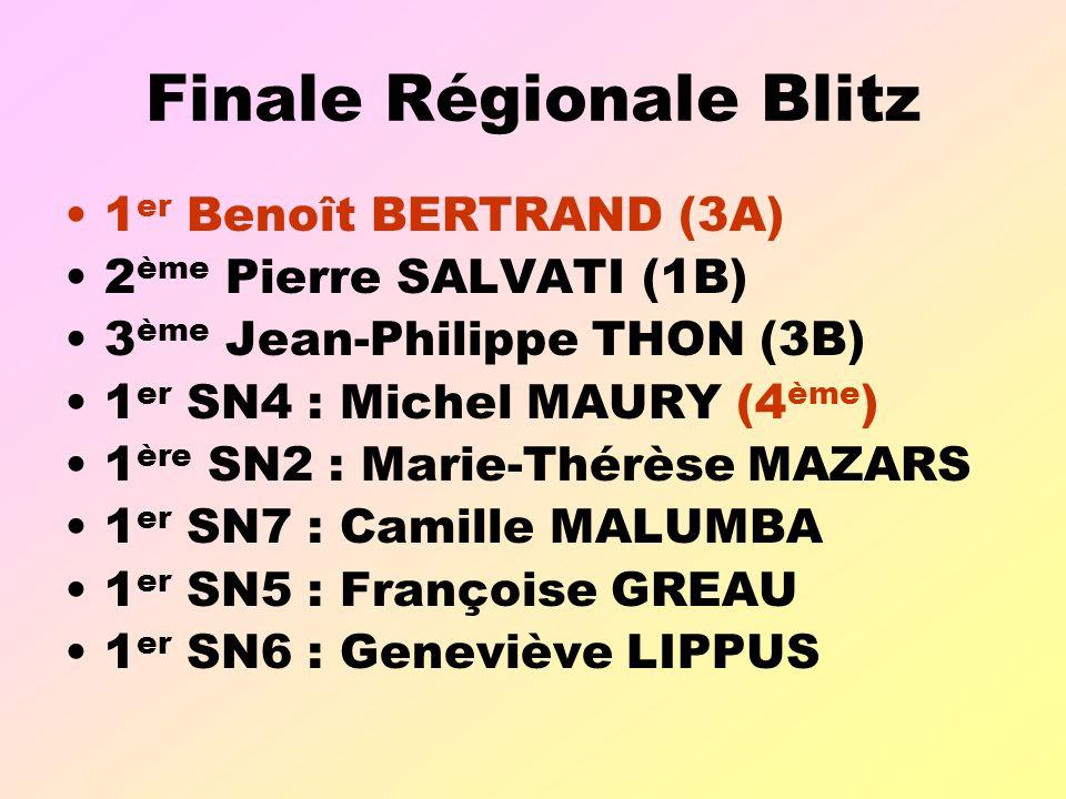 Finale Régionale Blitz
