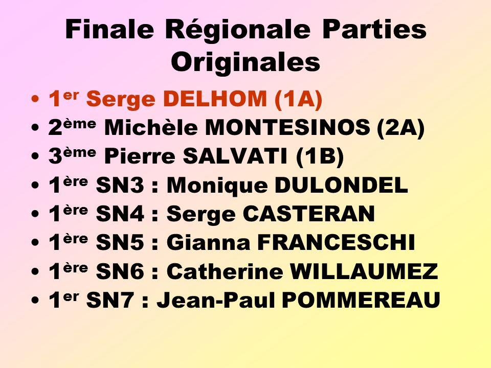 Finale Régionale Parties Originales