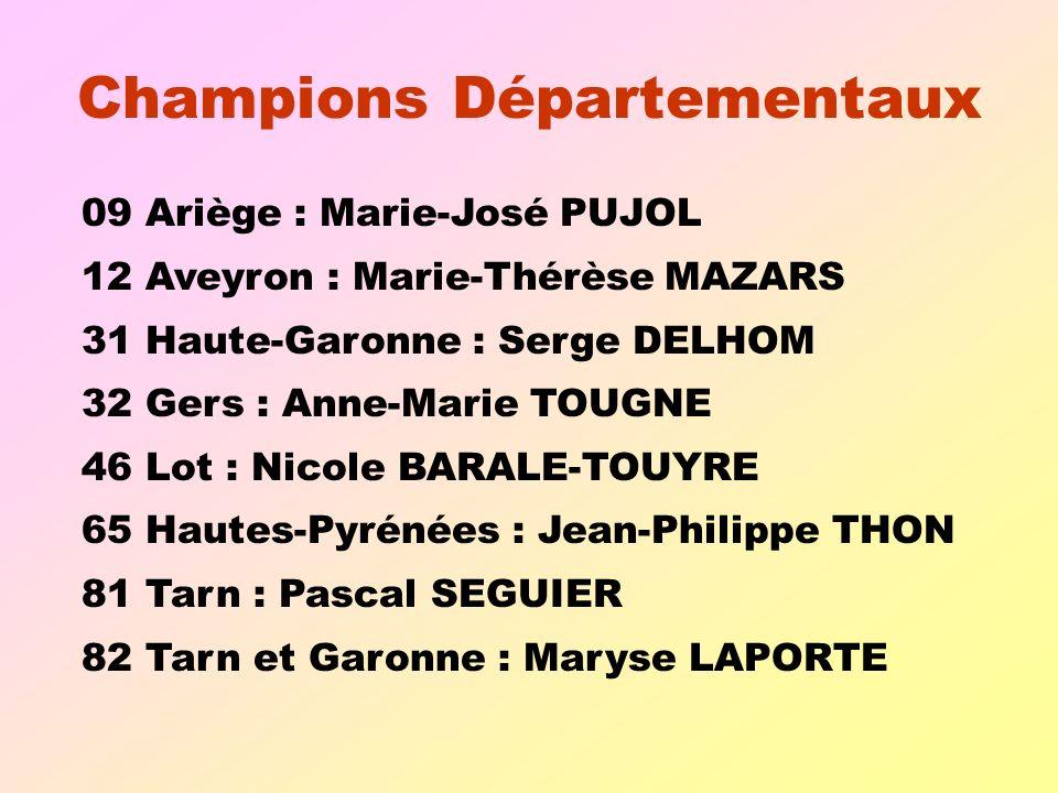 Champions Départementaux