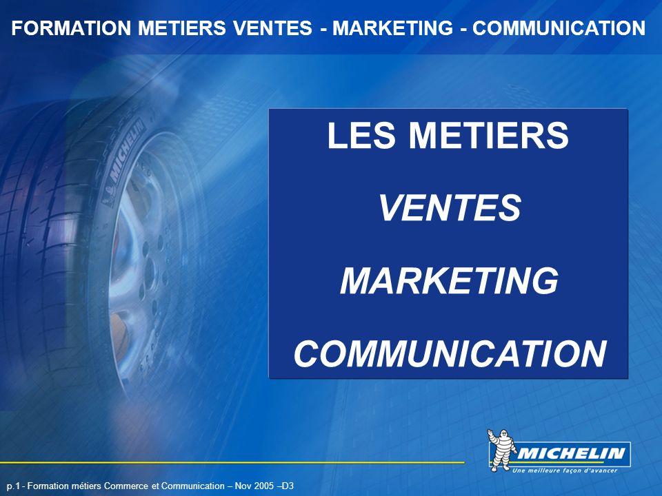 LES METIERS VENTES MARKETING COMMUNICATION