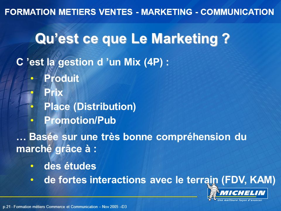 Qu'est ce que Le Marketing
