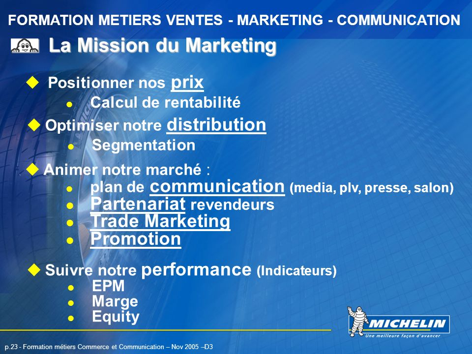 La Mission du Marketing