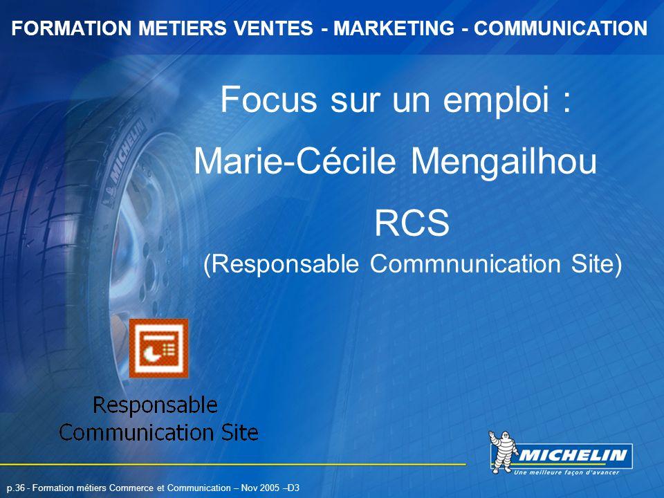 Marie-Cécile Mengailhou RCS