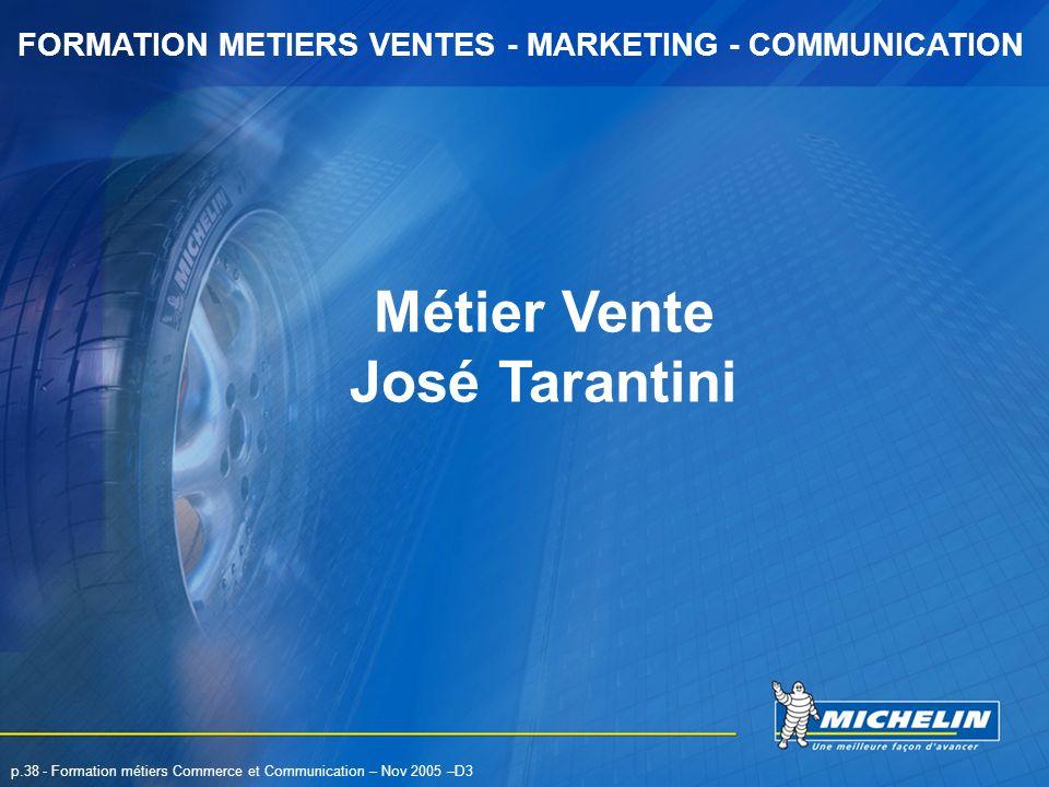 Métier Vente José Tarantini