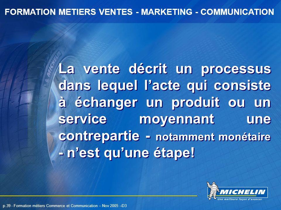 La vente décrit un processus dans lequel l'acte qui consiste à échanger un produit ou un service moyennant une contrepartie - notamment monétaire - n'est qu'une étape!