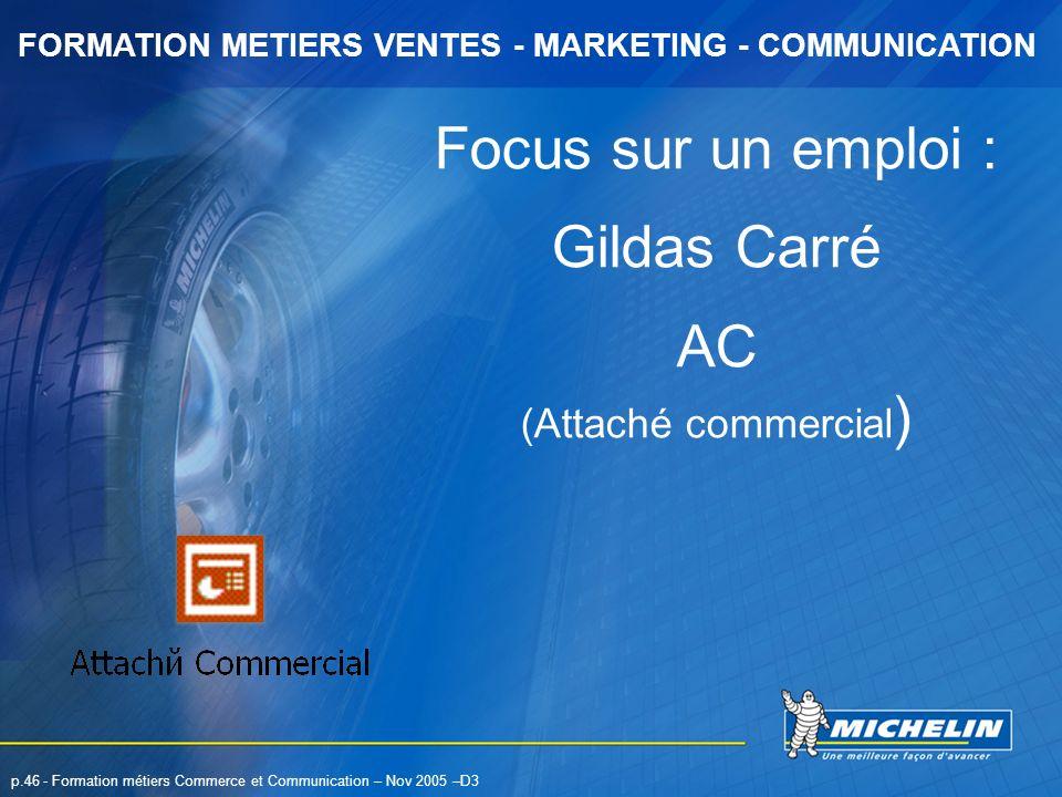Focus sur un emploi : Gildas Carré AC (Attaché commercial)