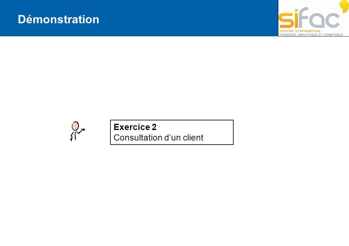 Démonstration Exercice 2 Consultation d'un client