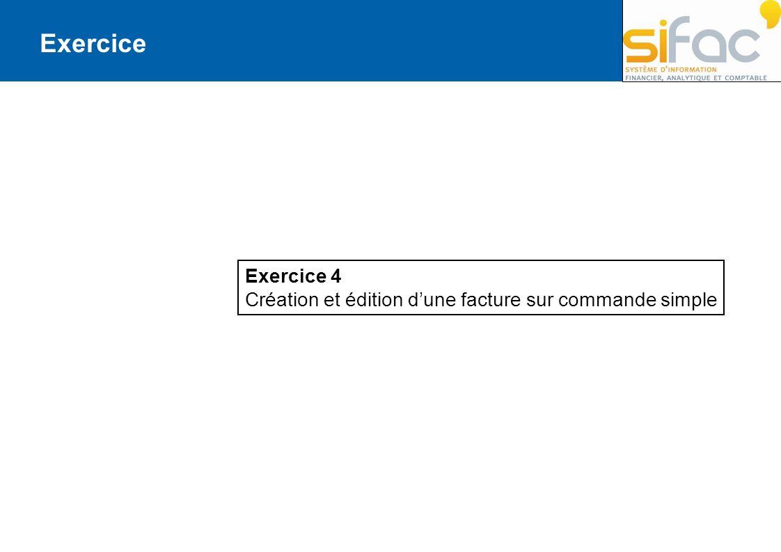 Exercice Exercice 4 Création et édition d'une facture sur commande simple