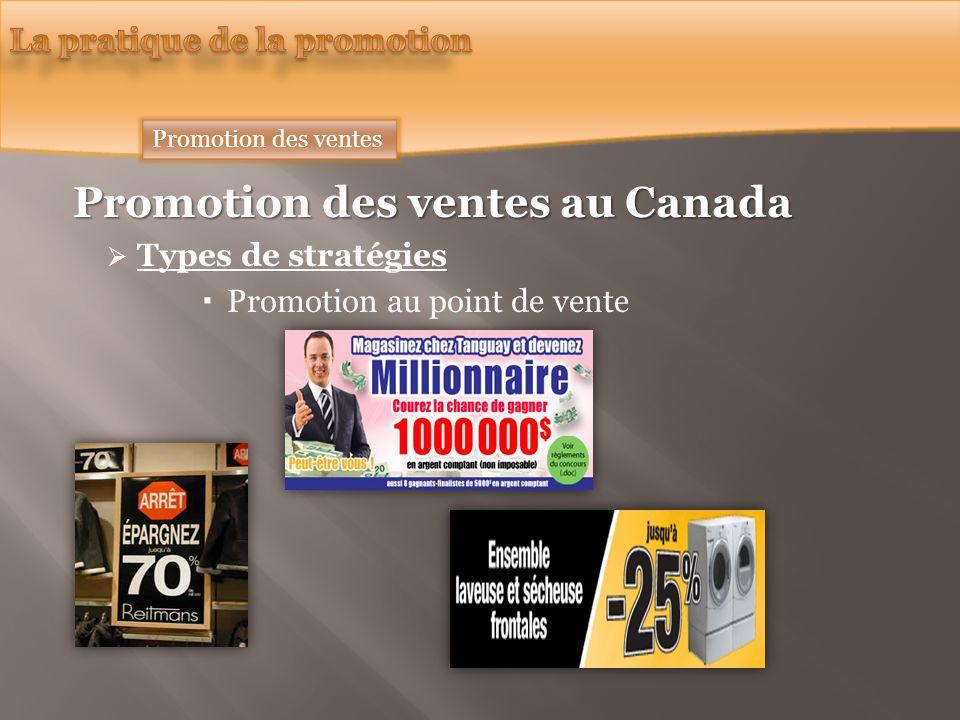 Promotion des ventes au Canada