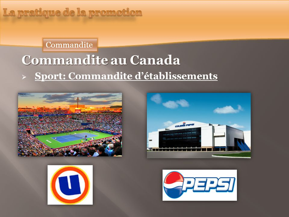 Commandite au Canada La pratique de la promotion