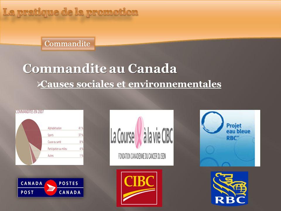 Commandite au Canada Causes sociales et environnementales