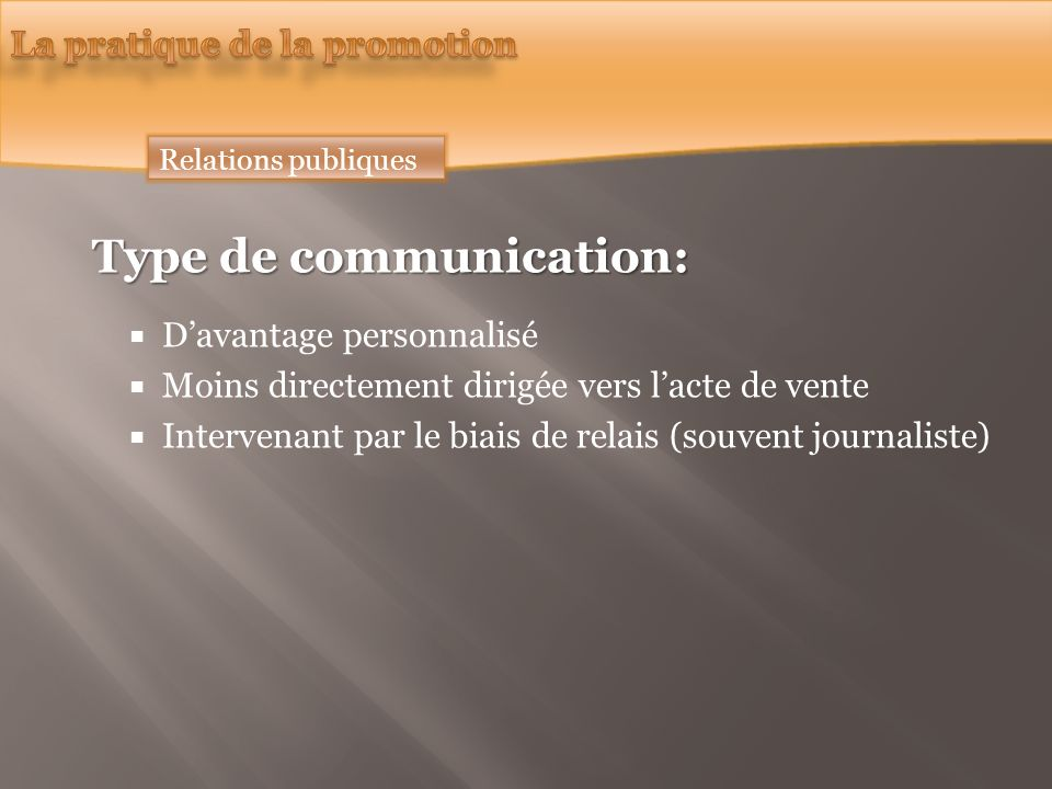 Type de communication: