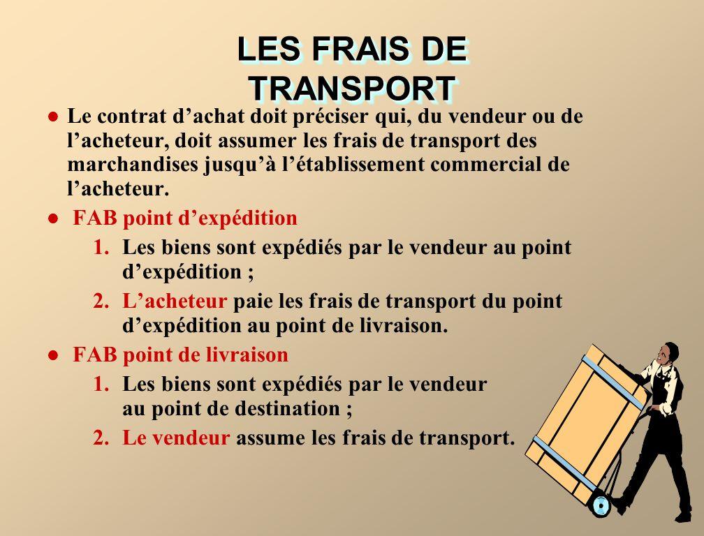 LES FRAIS DE TRANSPORT