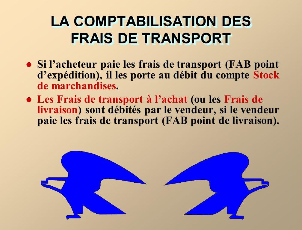 LA COMPTABILISATION DES FRAIS DE TRANSPORT
