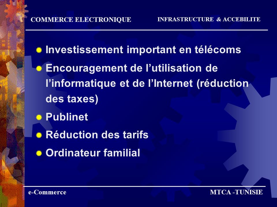 Investissement important en télécoms