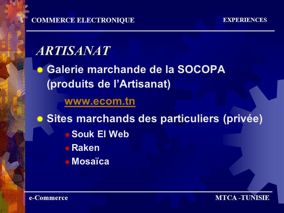 ARTISANAT Galerie marchande de la SOCOPA (produits de l'Artisanat)