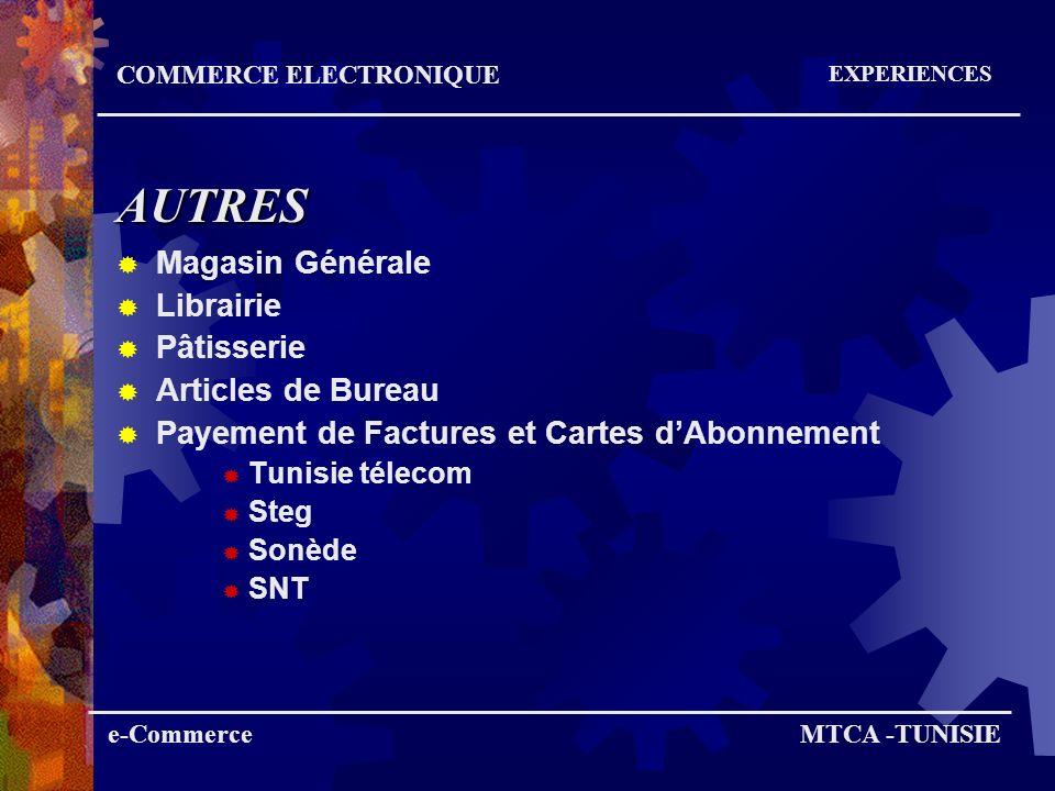 AUTRES Magasin Générale Librairie Pâtisserie Articles de Bureau