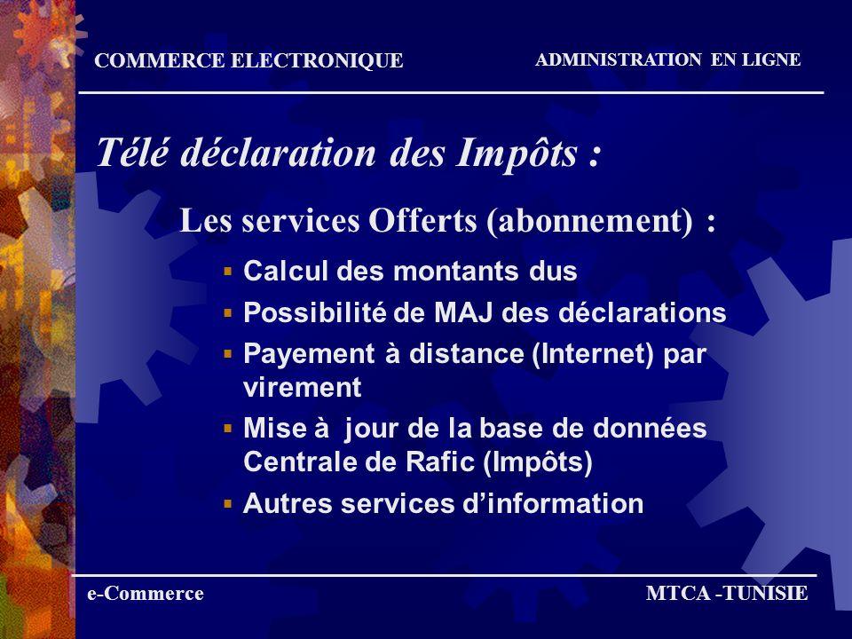 Les services Offerts (abonnement) :