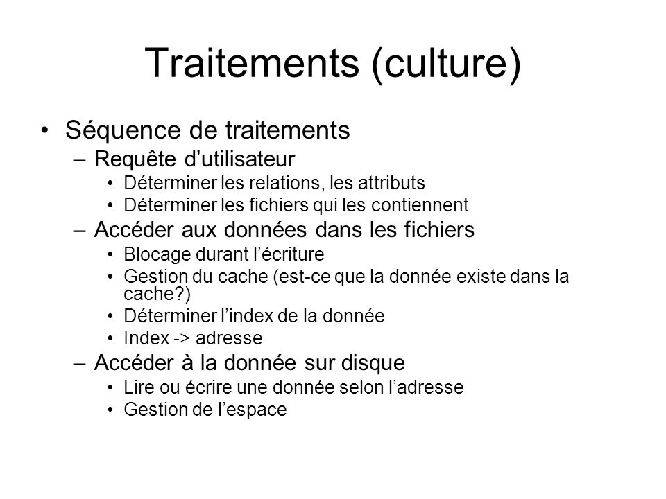 Traitements (culture)