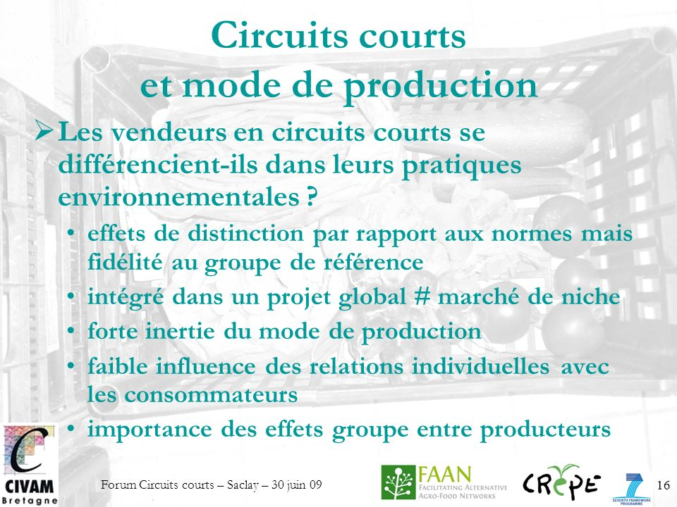 Circuits courts et mode de production