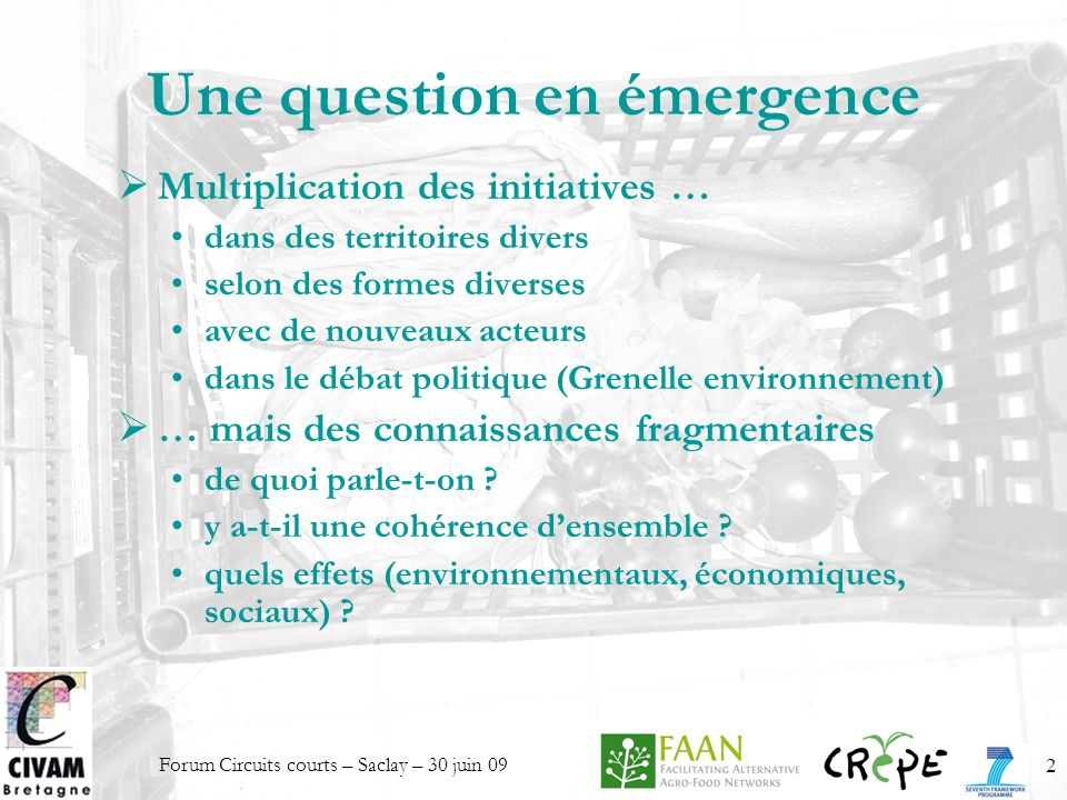 Une question en émergence