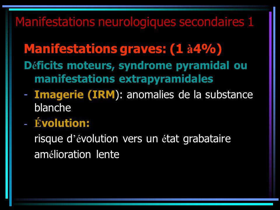 Manifestations neurologiques secondaires 1