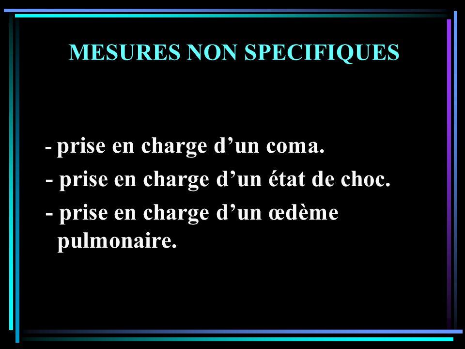 MESURES NON SPECIFIQUES