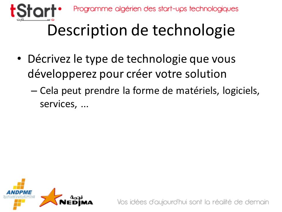 Description de technologie