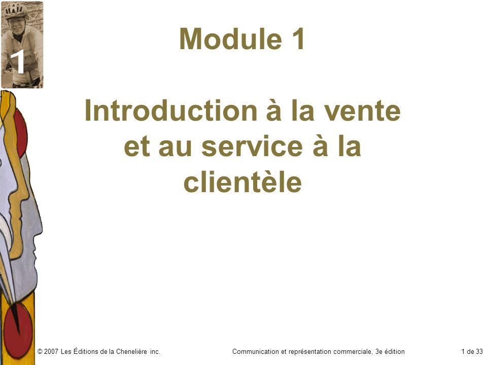 Module 1 Introduction à la vente et au service à la clientèle