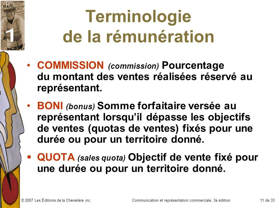 Terminologie de la rémunération