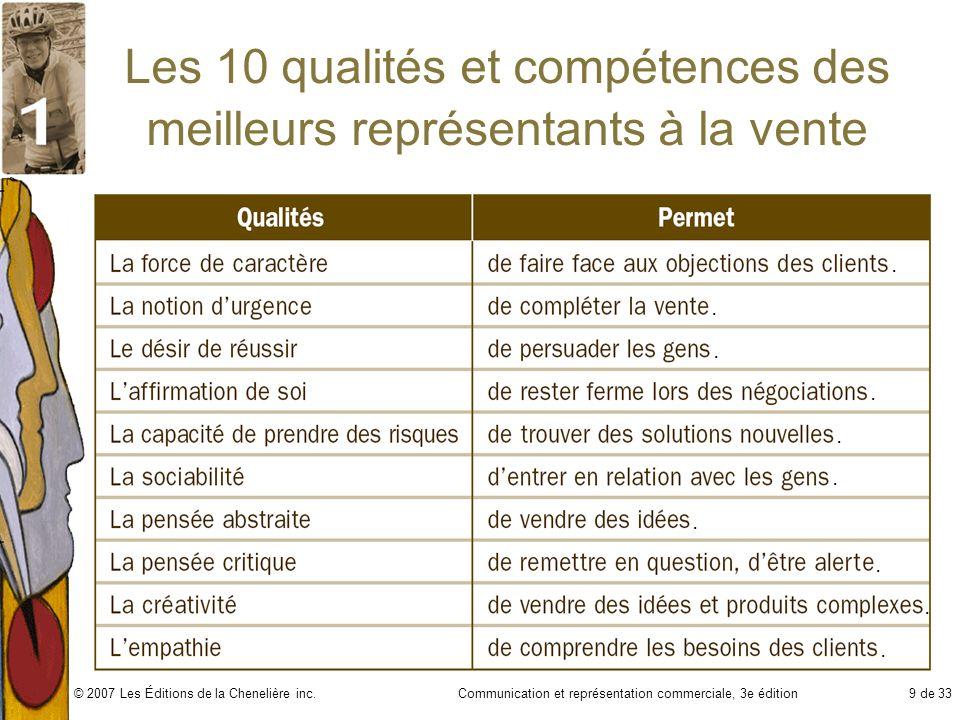 Les 10 qualités et compétences des meilleurs représentants à la vente