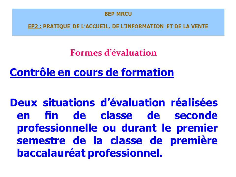 BEP MRCU EP2 : PRATIQUE DE L'ACCUEIL, DE L'INFORMATION ET DE LA VENTE