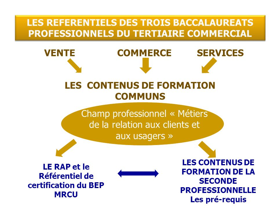 LES CONTENUS DE FORMATION COMMUNS