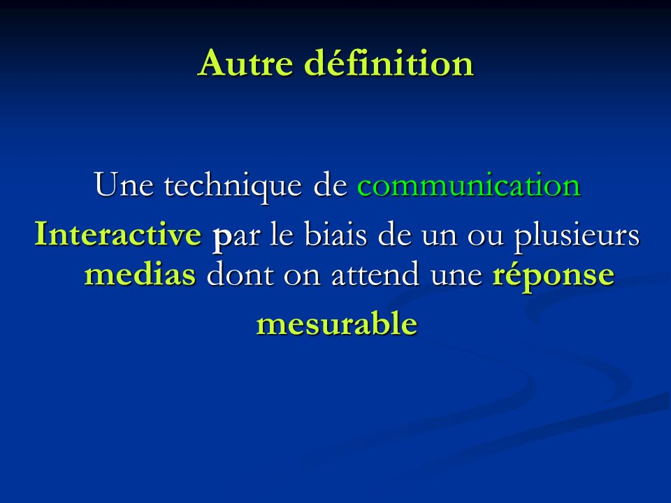 Une technique de communication