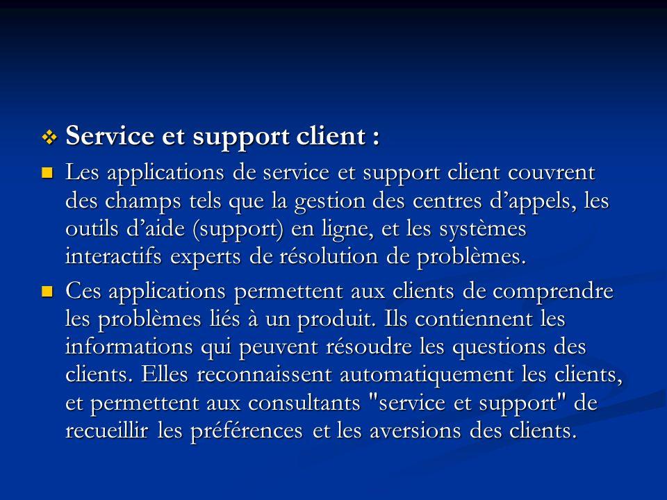 Service et support client :