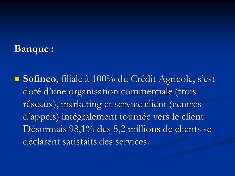 Banque :