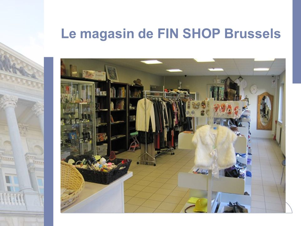 Le magasin de FIN SHOP Brussels