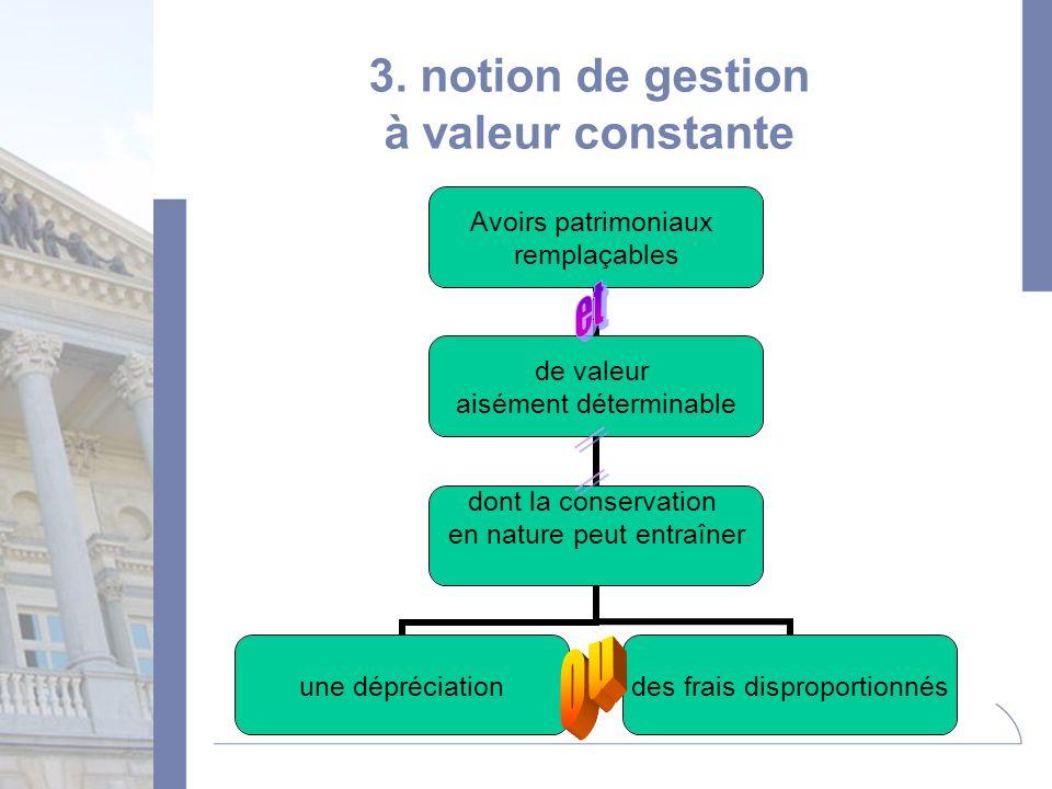 3. notion de gestion à valeur constante