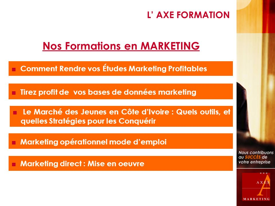 Nos Formations en MARKETING