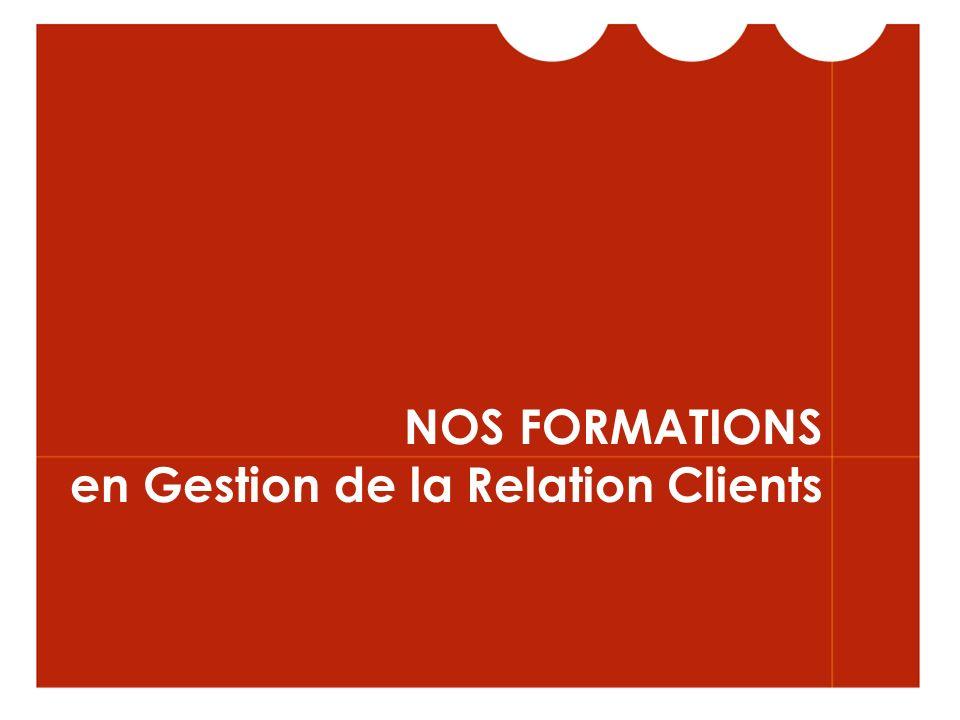 NOS FORMATIONS en Gestion de la Relation Clients