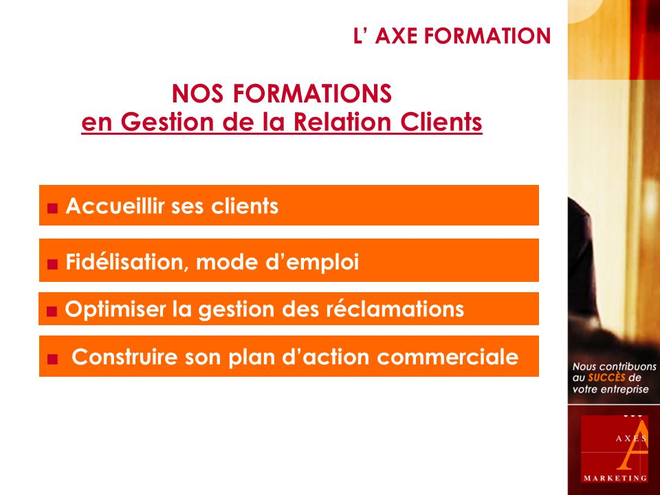 en Gestion de la Relation Clients