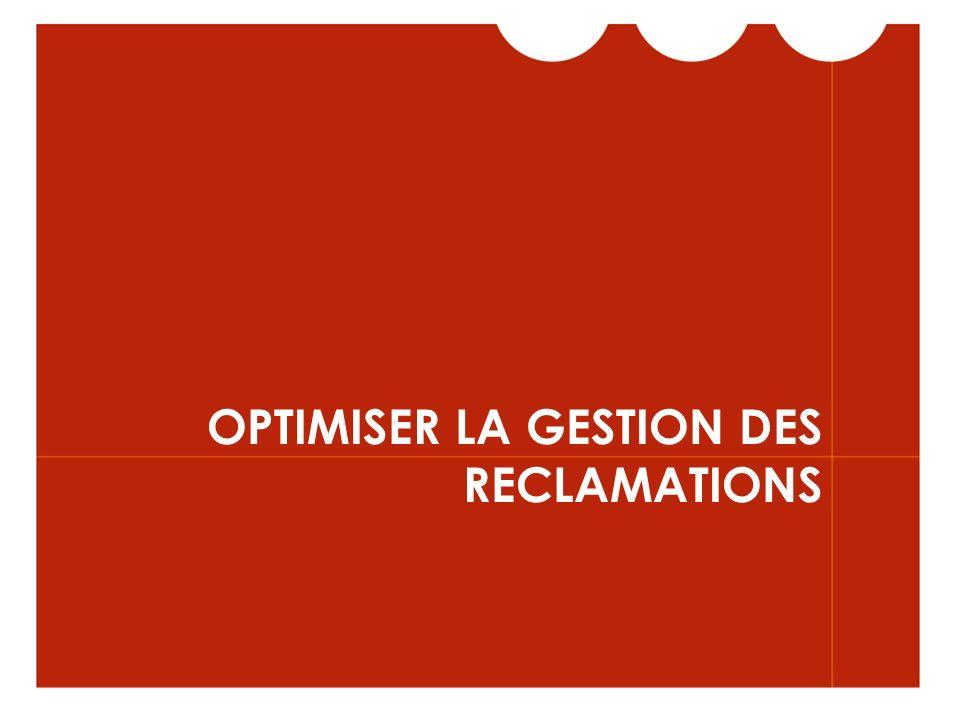 OPTIMISER LA GESTION DES RECLAMATIONS