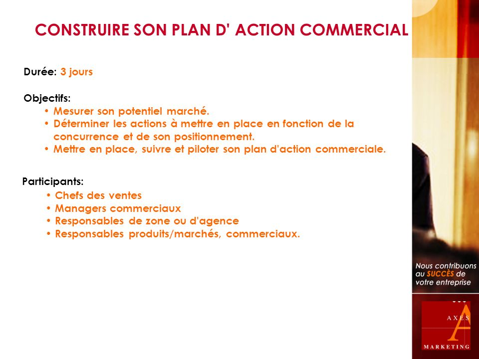 CONSTRUIRE SON PLAN D ACTION COMMERCIAL