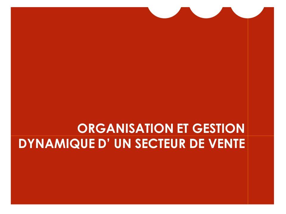 ORGANISATION ET GESTION DYNAMIQUE D' UN SECTEUR DE VENTE