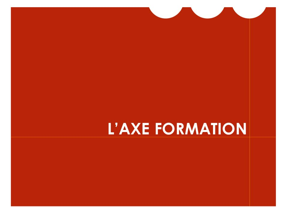 L'AXE FORMATION
