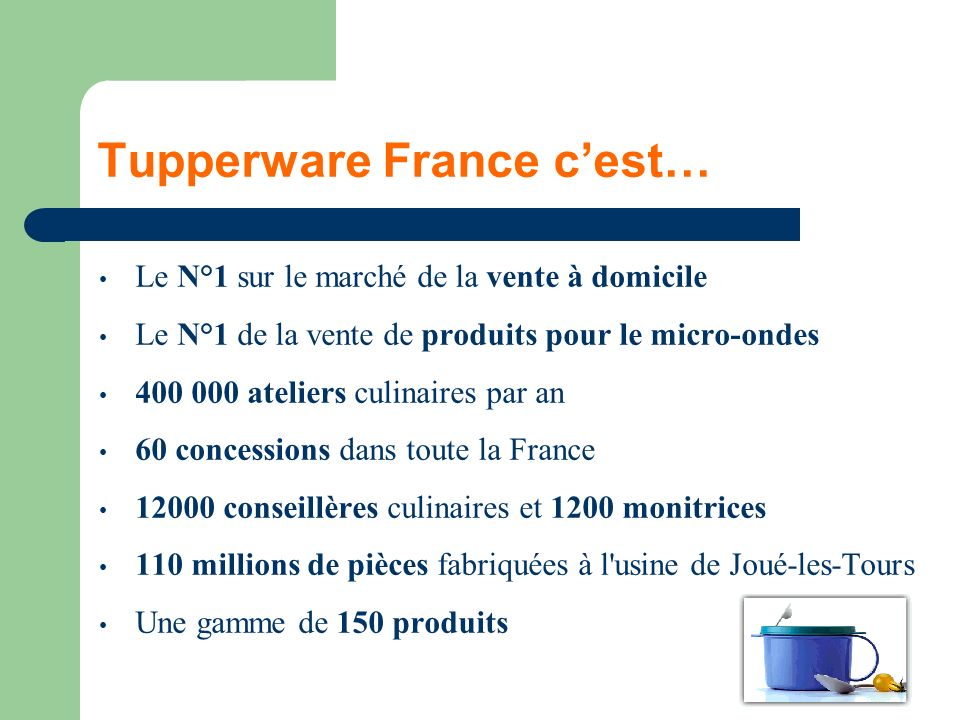 Tupperware France c'est…