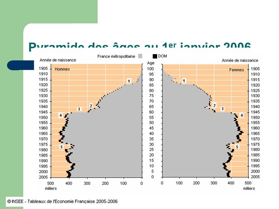 Pyramide des âges au 1er janvier 2006