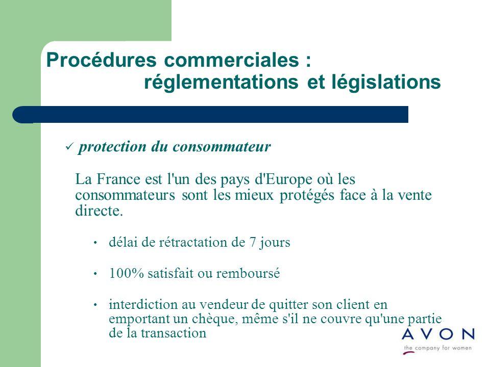 Procédures commerciales : réglementations et législations