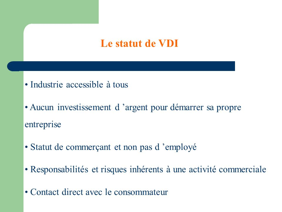 Le statut de VDI Industrie accessible à tous