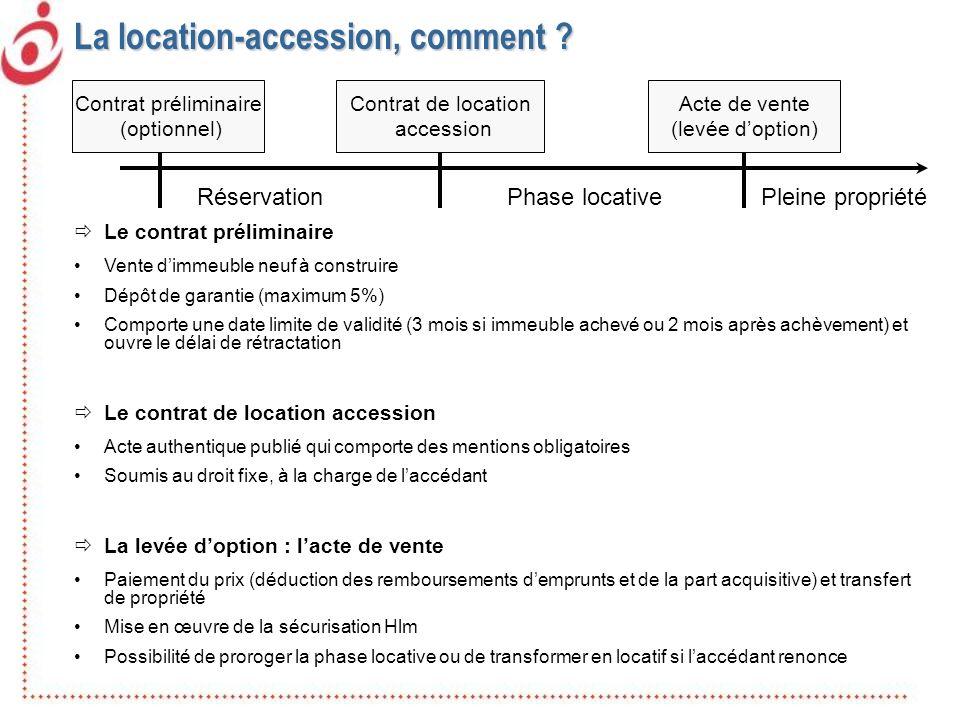 La location-accession, comment